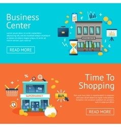 Office And Shops Banners Set vector