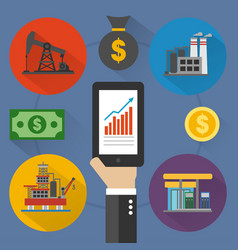 Oil business modern design flat vector