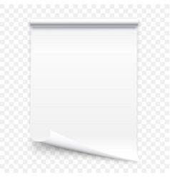 open the vertical paper journal vector image