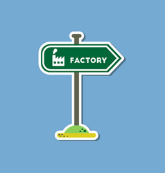paper sticker on stylish background sign factory vector image