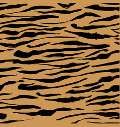 Safari pattern tiger print orange seamless vector