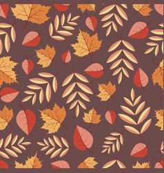 seamless pattern with autumn leaves on a colored vector image