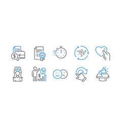 Set business icons such as oculist doctor vector