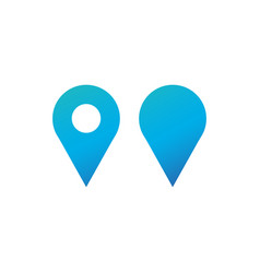 set location gps map pin icon map pointer vector image