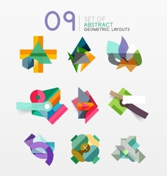 Set of abstract geometric layout vector image