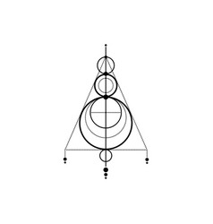 Sigil protection dream catcher magical amulet vector