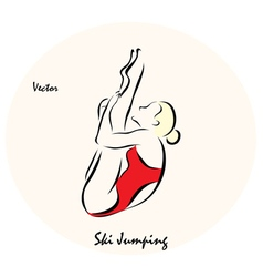 Ski Jumping vector