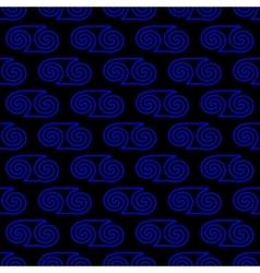 Spiral geometric seamless pattern 1104 vector image