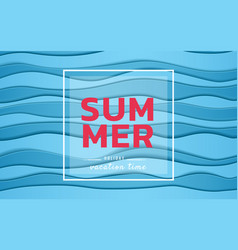 summer banner sale top view blue sea paper waves vector image