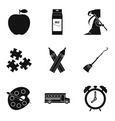 Teachers day icons set simple style vector