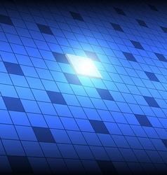 Tech square button vector