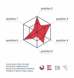 Template infographic as a scheme vector