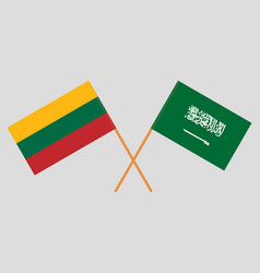 the lithuanian and ksa flags vector image