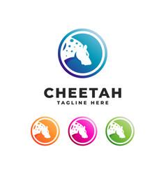 tiger cheetah logo vector image