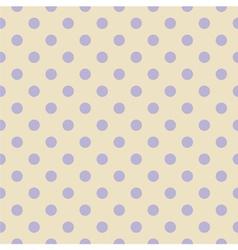 Tile violet polka dots on beige background vector image