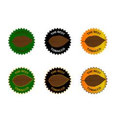 Tobacco the best sticker vector