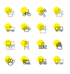 track icons vector image