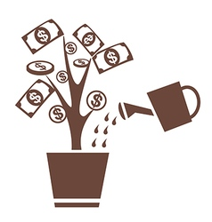 Tree money invest symbol vector
