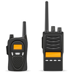 walkie talkie 05 vector image