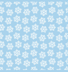 white snowflakes on blue for christmas gift box vector image