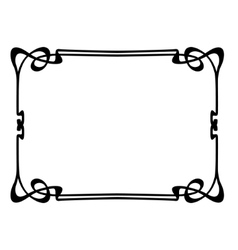 art nouveau ornamental decorative frame vector image vector image