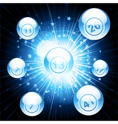 bingo ball explosion vector image