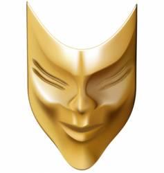 bronze mask vector image vector image