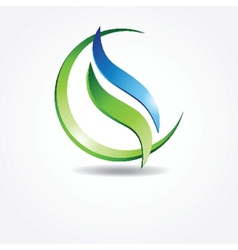 Green ecological banner vector image