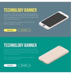 Modern banner with smartphone vector image