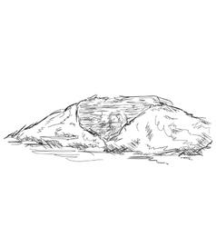 Mountain peak Hand drawn vector image