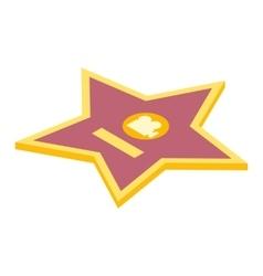 Movie star isometric 3d icon vector image