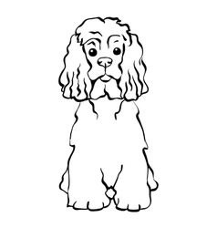Sketch funny dog sitting vector