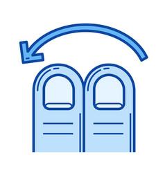 two-finger swipe left line icon vector image
