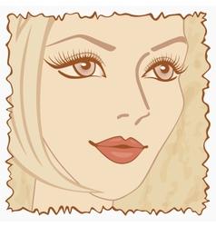 Vintage beautiful sweet girl vector image vector image