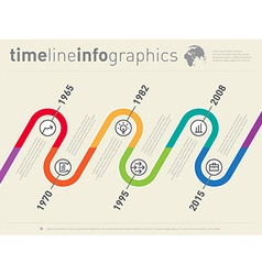 World Business infographic timeline from past to vector image vector image