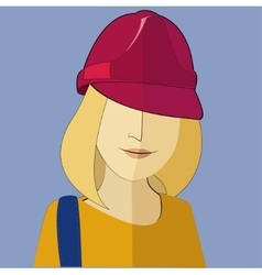 A woman in a construction helmet in the vector