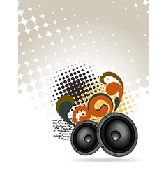 abstract speakers design vector image
