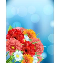 Bouquet of flowers gerber vector image vector image