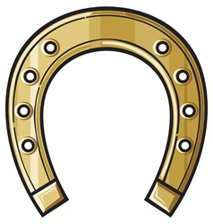 gold horseshoe vector image vector image