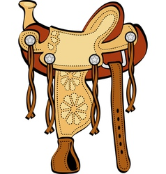 Horse Saddle vector image