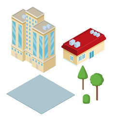 isometric city 3d vector image