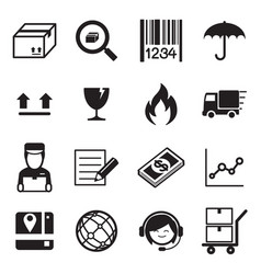 logistic delivery icons vector image