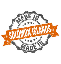 made in solomon islands round seal vector image