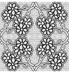 Monochrome lace pattern Background for greeting vector image vector image