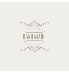 Vintage Design Hand Made Trademark vector image