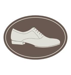 Vintage men shoe label vector image