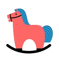 Rocking horse Childrens toy horse apples hoss for vector image