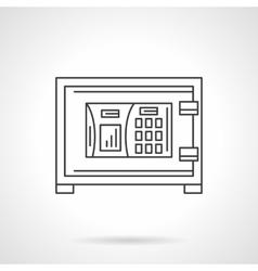 Combination lock safe flat line icon vector image