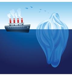 iceberg ship vector image vector image
