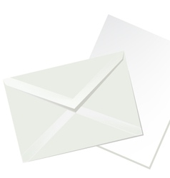 letter envelope and white paper vector image vector image